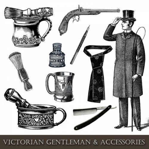 Vintage Man Accessories Clipart