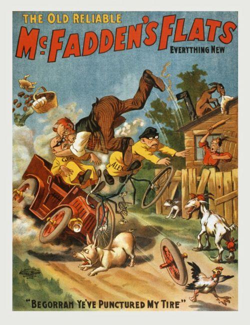Vintage McFaddens Flats Poster