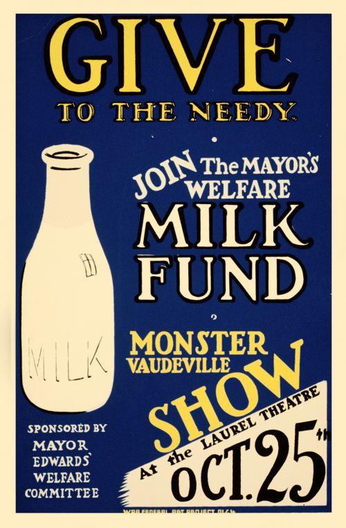 Vintage Milk Fund Poster