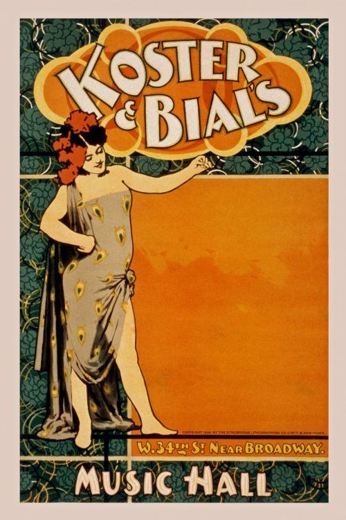 Vintage Music Hall Poster