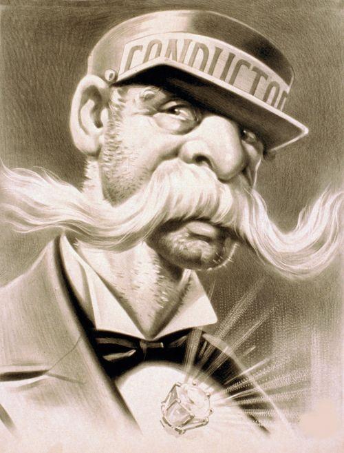 Vintage Mustache Man