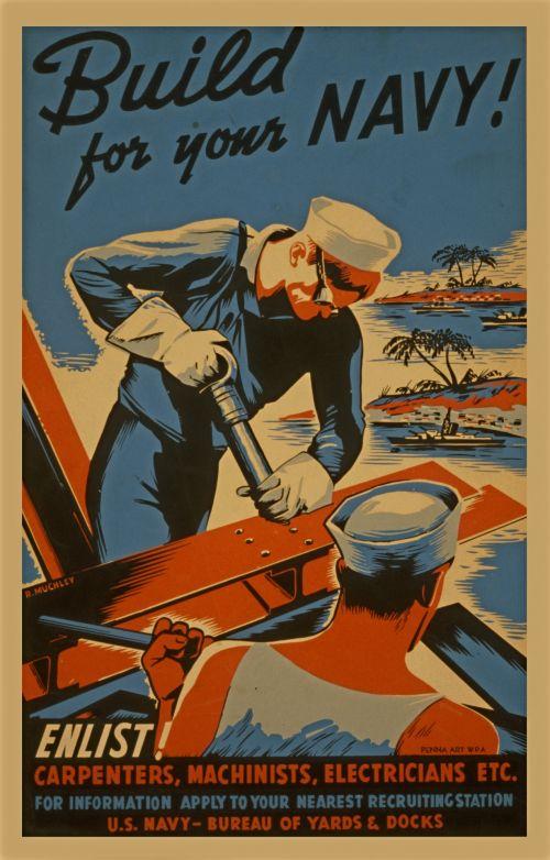 Vintage Navy Poster
