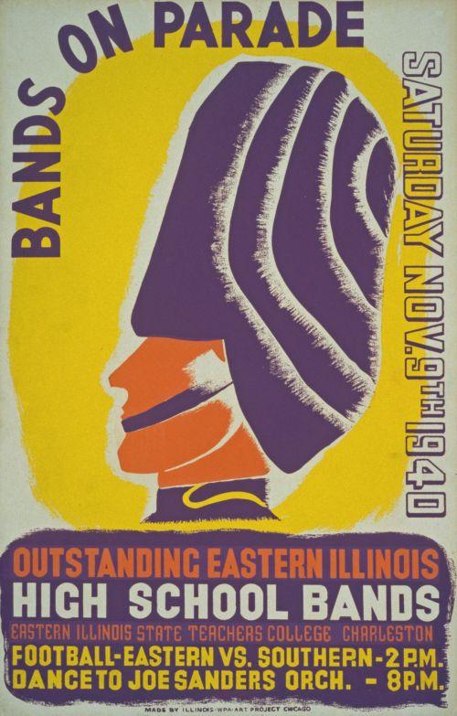Vintage Parade Bands Poster