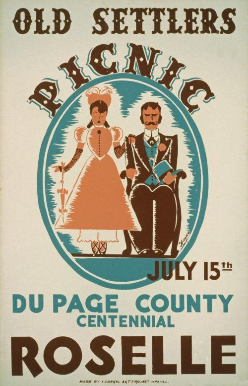 Vintage Picnic Poster