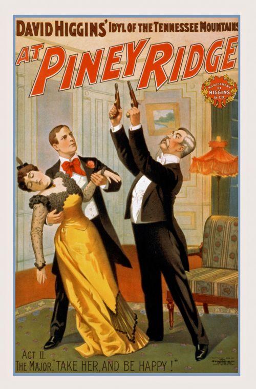Vintage Piney Ridge Poster