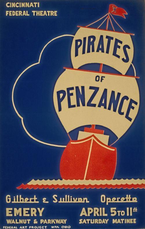 Vintage Pirates Of Penzance Poster