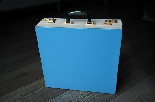 vintage portable vinyl record box vintage music