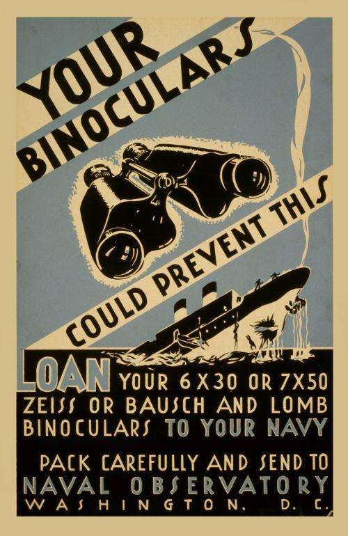 Vintage Poster Binoculars