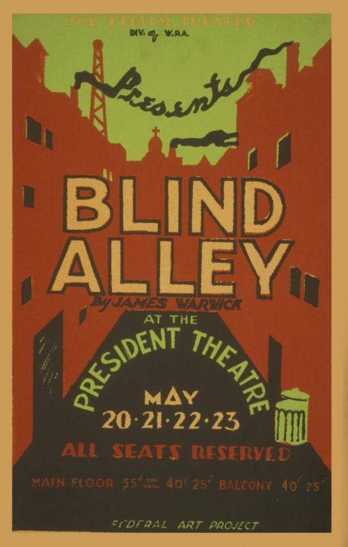 Vintage Poster Blind Alley