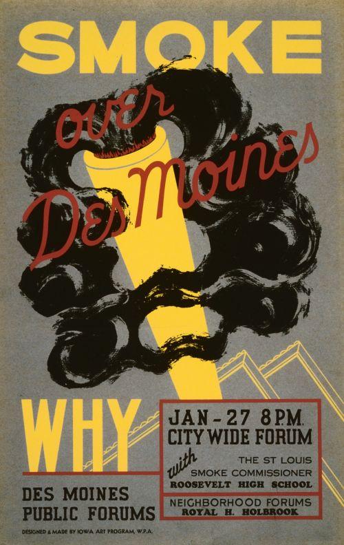 Vintage Public Forum Poster