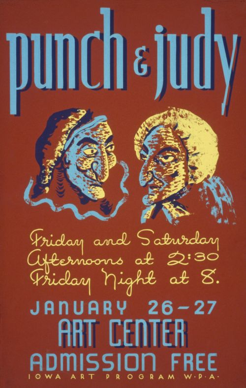 Vintage Punch & Judy Poster
