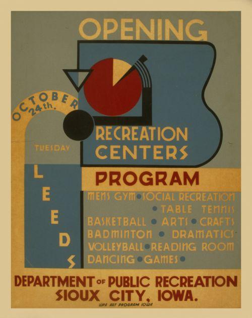 Vintage Recreation Poster