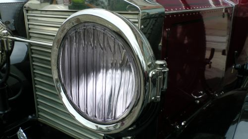 Vintage Rolls Royce Car Headlight