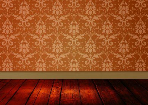 Vintage Room Damask Wallpaper