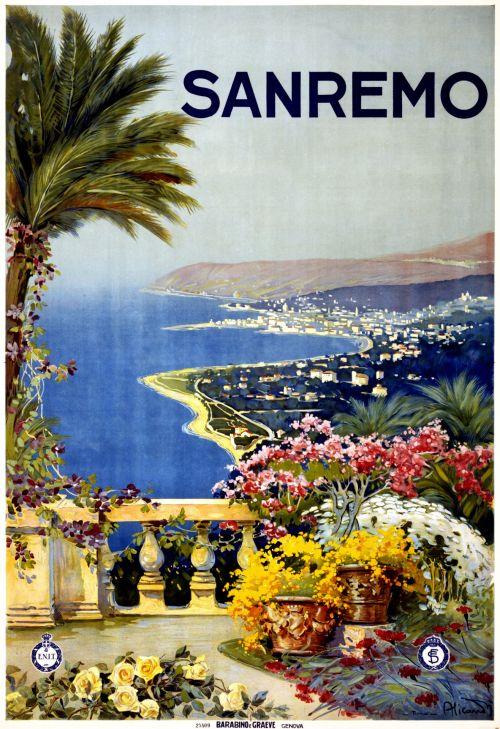 Vintage Sanremo Travel Poster