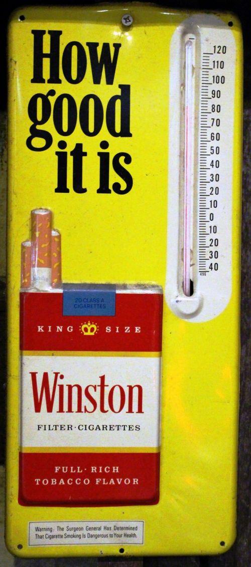 Vintage Sign For A Cigarette Brand