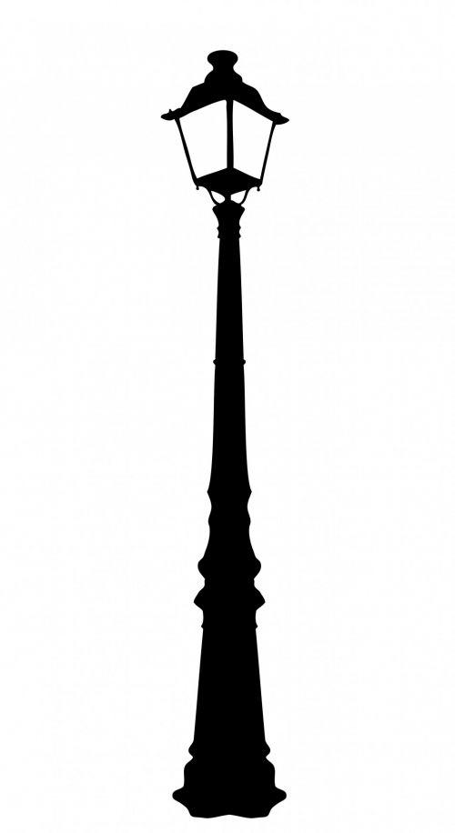 Vintage Street Lamp Clipart