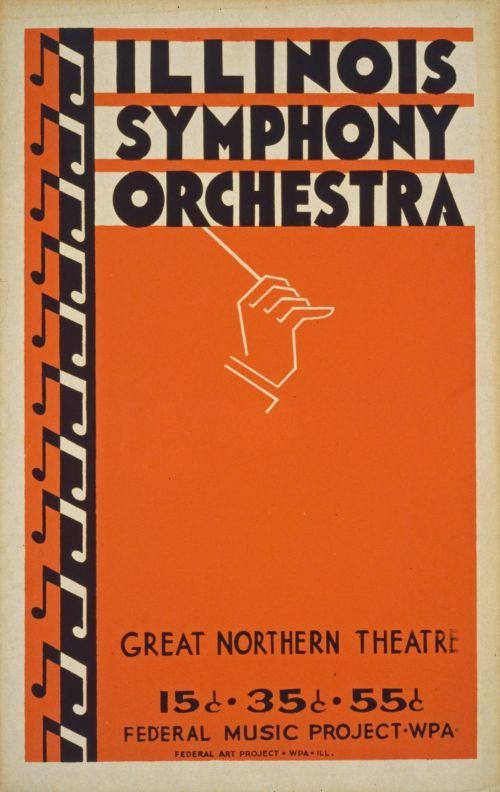 Vintage Symphony Orchestra Poster