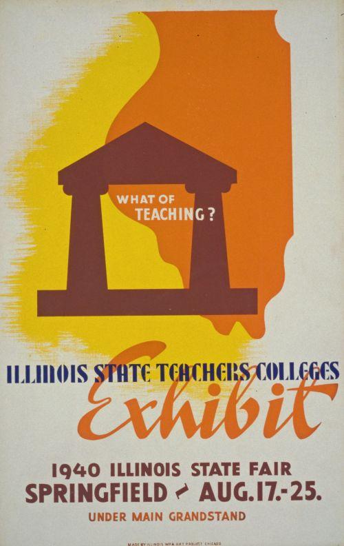 Vintage Teachers Exhibit Poster