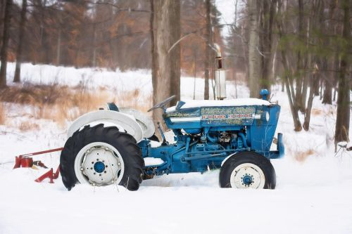 vintage tractor old tractor blue tractor