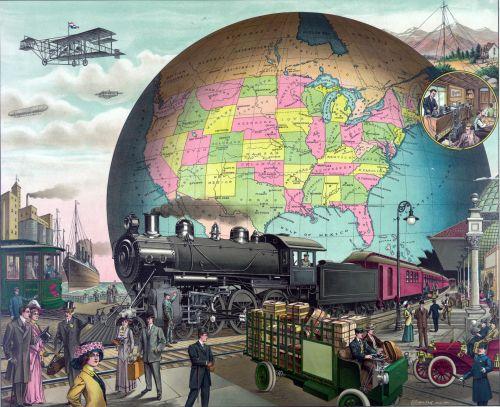 Vintage Transport Collage