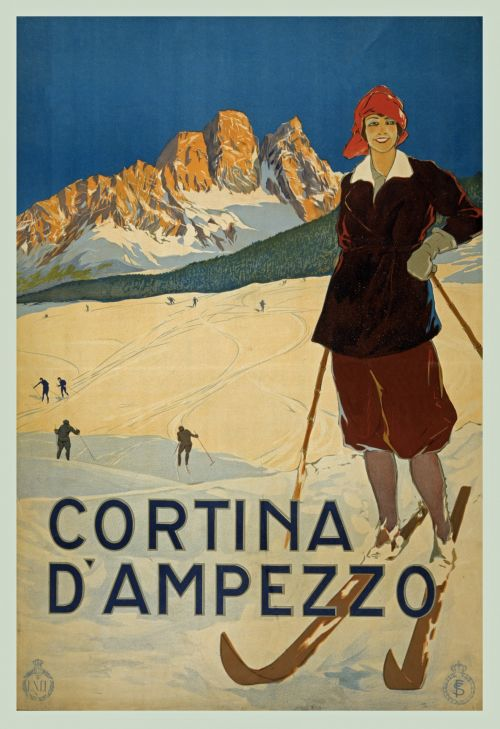clipart,clipart,illustration,graphic,poster,vintage,antique,publicdomain,travel,travelposter,skiing,snow,sport,recreation,leisure,outdoors,people,person,ski,winter,seasonal,vintage travel poster