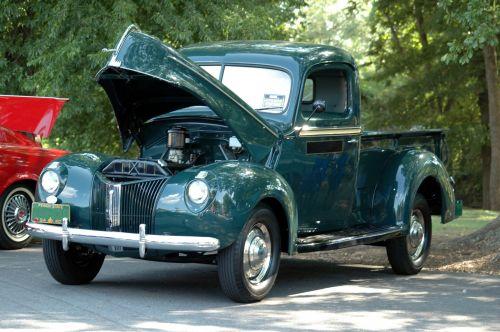 vintage, sunkvežimis, gabenimas, pikapas & nbsp, sunkvežimis, Rodyti, retro, atkurta, derlius sunkvežimis