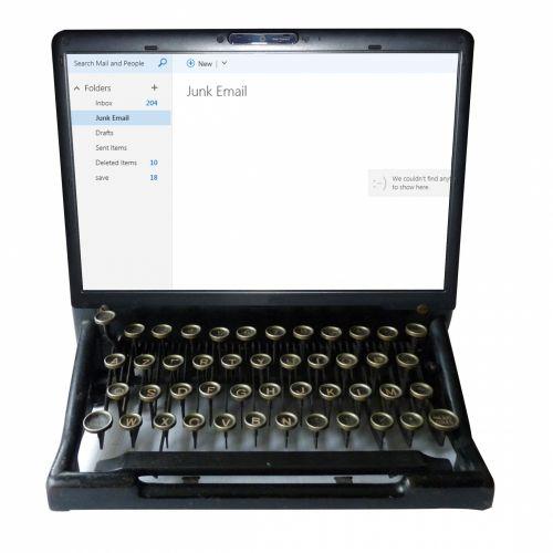 Vintage Typewriter Laptop Monitor
