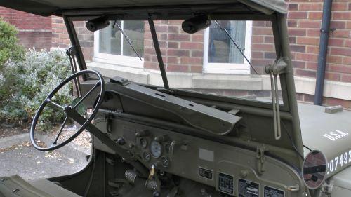 Vintage U.S. Army Jeep Dashboard