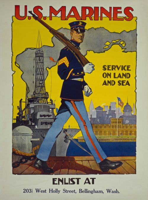 Vintage US Marines Poster