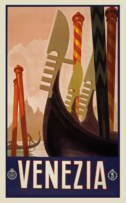 Vintage Venezia Travel Poster