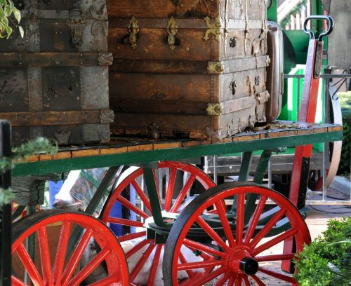 Vintage Wagon With Trunks