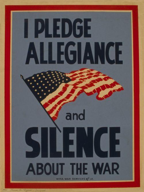 Vintage War Silence Poster