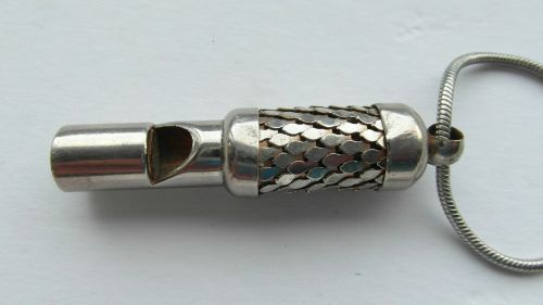 vintage whistle vintage silver plate silver whistle