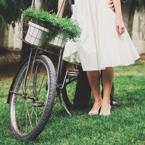 vintage woman bicycle vintage