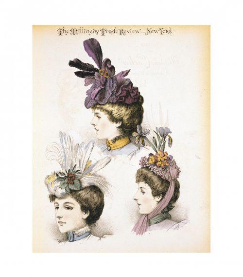 Vintage Women Hats Art