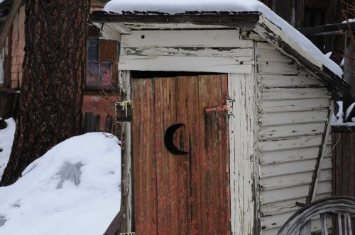 Vintage Wooden Outhouse