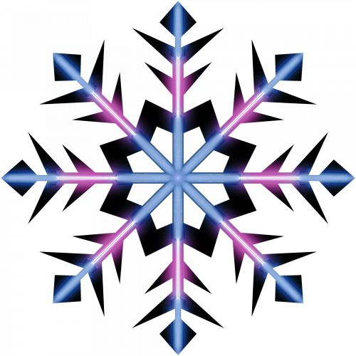 Violet Blue Snowflake