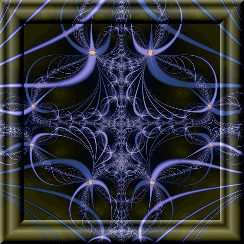 rėmas, violetinė, 3d, fraktalas, stiklas, Saunus, violetinis fraktalas