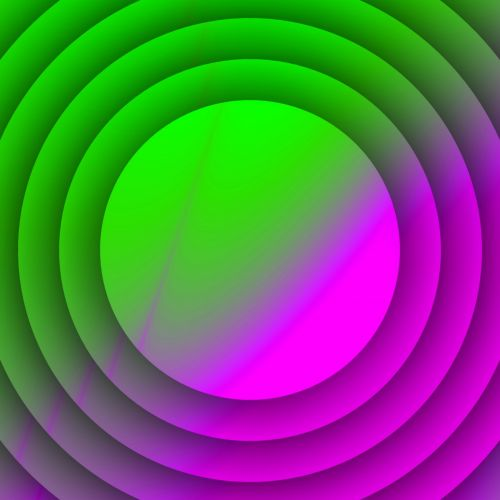 Violet Green Circles