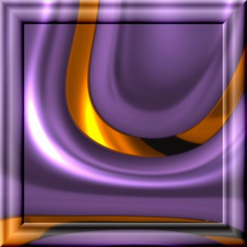 Violet Op Art Frame