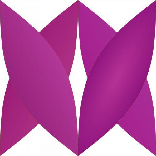 abstraktus, gėlių, geometrinis, formos, balta, fonas, violetinės formos