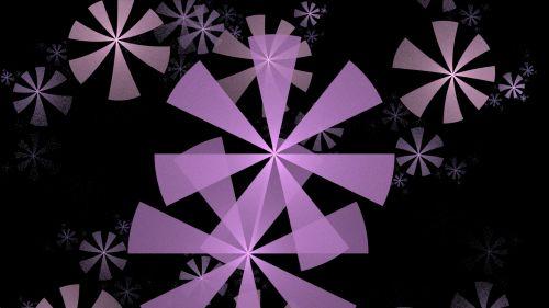 Violet Snowflakes