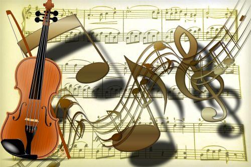 violin clef gold