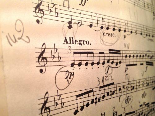 violin music score