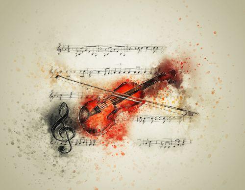 violin music notes