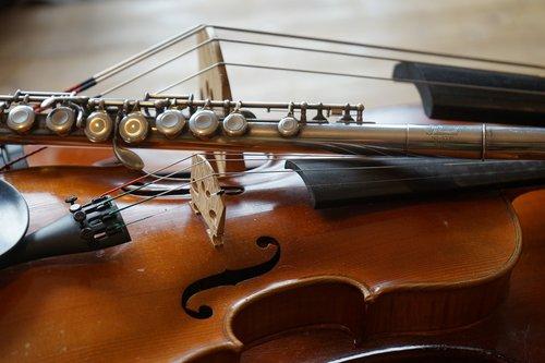 violin  double bass  flute
