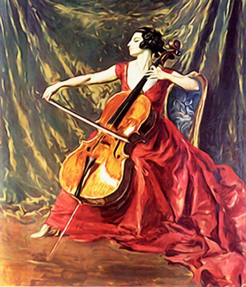violin music woman playing violin