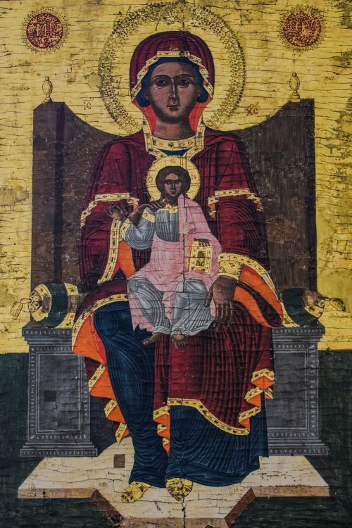 virgin mary christ icon