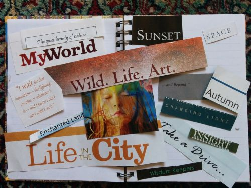 vision board,manifestation,scrapbook,scrapbooking,magazine,clippings,newspaper,ideas,inspirational,inspiration,inspiring,quotes,journal,journaling,diary,collage,new age,spirituality,quote,words,sayings